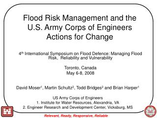 Flood Risk Management and the U.S. Army Corps of Engineers Actions for Change