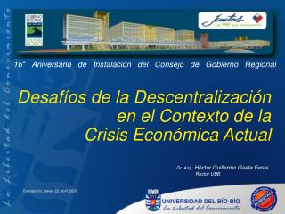 Desafíos de la Descentralización en el Contexto de la  Crisis Económica Actual