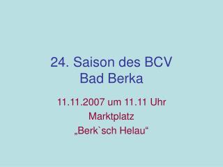 24. Saison des BCV  Bad Berka