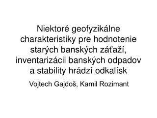 Vojtech Gajdoš, Kamil Rozimant
