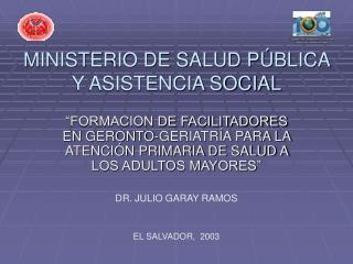 MINISTERIO DE SALUD P BLICA Y ASISTENCIA SOCIAL