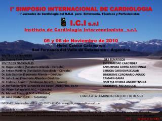 I° SIMPOSIO INTERNACIONAL DE CARDIOLOGIA