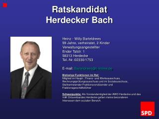 Ratskandidat  Herdecker Bach