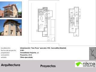 localizaci�n:  Urbanizaci�n �Tres Picos� parcela n�30. Cercedilla (Madrid)
