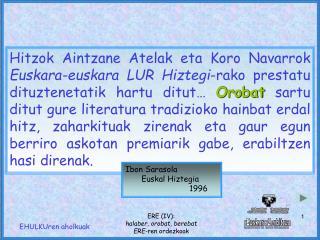 Ibon Sarasola Euskal Hiztegia 1996