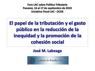 El papel de la tributaci n y el gasto p blico en la reducci n de la inequidad y la promoci n de la cohesi n social