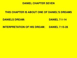 DANIEL CHAPTER SEVEN