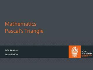 Mathematics Pascal�s Triangle