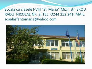 "LITTLE HUZEL TREE Romanian folk dance  and  song  The 1 st grade ,  ""ST.MARY"" SCHOOL MIZIL"