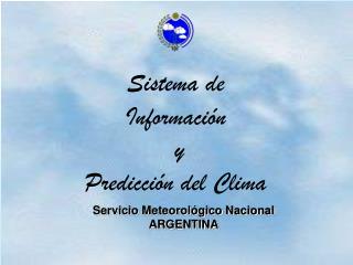 Servicio Meteorológico Nacional ARGENTINA