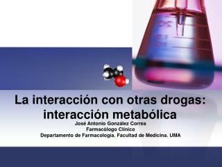 La interacción con otras drogas: interacción metabólica