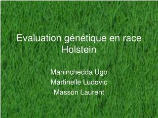 Evaluation génétique en race Holstein