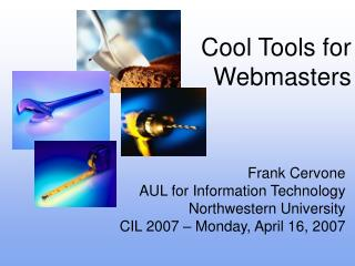 Cool Tools for Webmasters