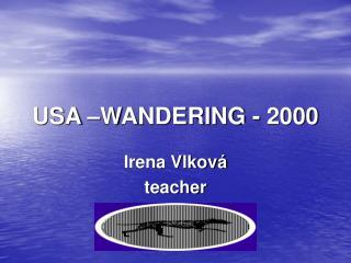 USA –WANDERING - 2000