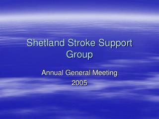 Shetland Stroke Support Group