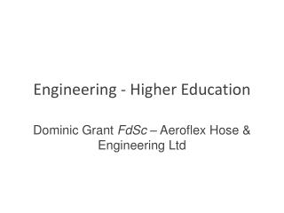Engineering - Higher Education