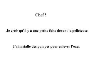 Chef !