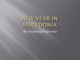 New Year in Macedonia