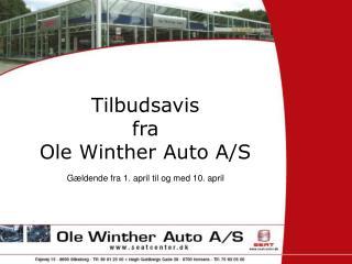 Tilbudsavis fra Ole Winther Auto A/S