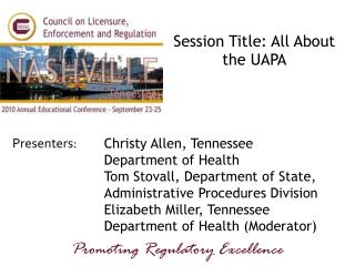 Session Title: All About the UAPA