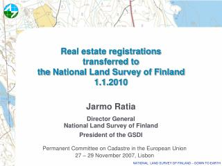 Real estate registrations  transferred to  the National Land Survey of Finland  1.1.2010