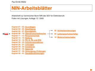 NIN-Arbeitsblätter