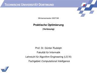 Praktische Optimierung (Vorlesung)