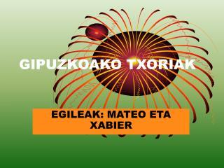 GIPUZKOAKO TXORIAK