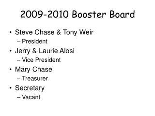 2009-2010 Booster Board
