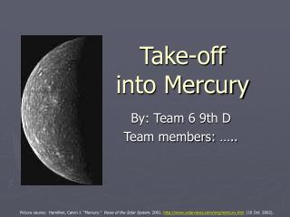 Take-off  into Mercury