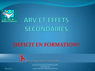ARV ET EFFETS SECONDAIRES