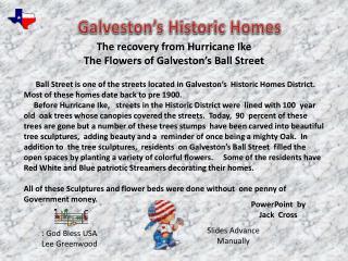 Galveston's Historic Homes