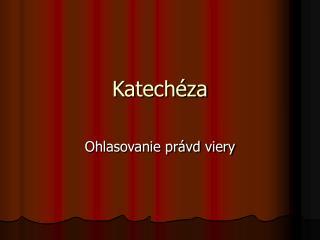 Katechéza