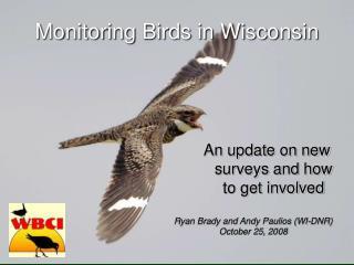 Monitoring Birds in Wisconsin