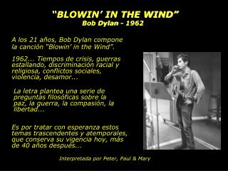 """""""BLOWIN' IN THE WIND"""""""