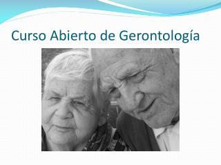 Curso Abierto de Gerontología