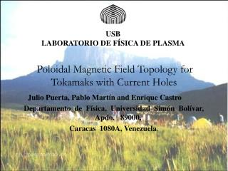 Poloidal Magnetic Field Topology for Tokamaks with Current Holes