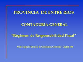 PROVINCIA  DE ENTRE RIOS
