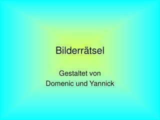 Bilderr�tsel