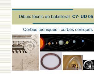 Dibuix tècnic de batxillerat   C7- UD 05