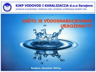 KJKP VODOVOD I KANALIZACIJA d.o.o Sarajevo