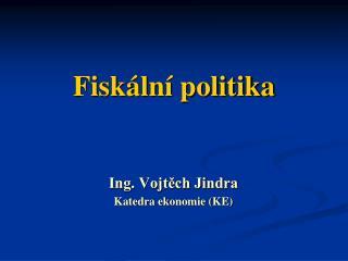 Fiskální politika
