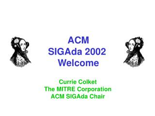 ACM SIGAda 2002  Welcome