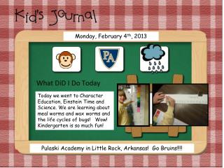 Monday, February 4 th , 2013
