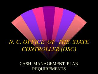 N. C. OFFICE  OF  THE  STATE  CONTROLLER OSC