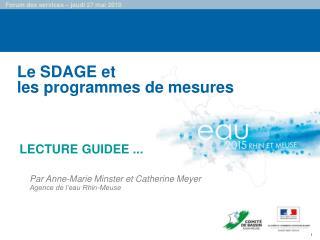 Le SDAGE et les programmes de mesures