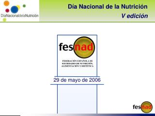 Día Nacional de la Nutrición V edición