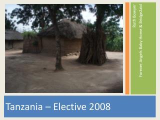 Tanzania  –  Elective 2008