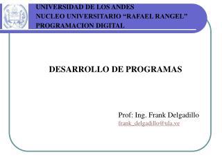 DESARROLLO DE PROGRAMAS