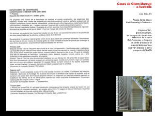 Cases de Glenn Murcutt a Australia curs 2004-05 Anàlisi de les cases  Ball-Eastaway i Fredericks